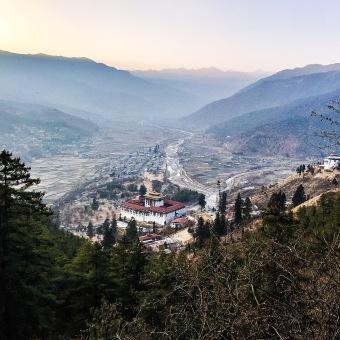 Paro Dzong from atop Zurig trail