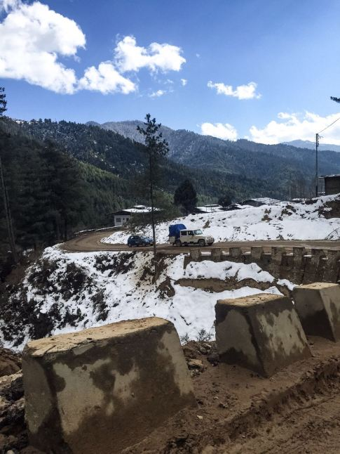 Parts of the pass were cleared